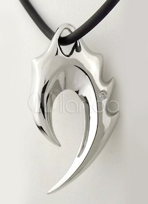 Cool silvery titanium steel wing shaped mens pendant milanoo cool silvery titanium steel wing shaped mens pendant no1 mozeypictures Images