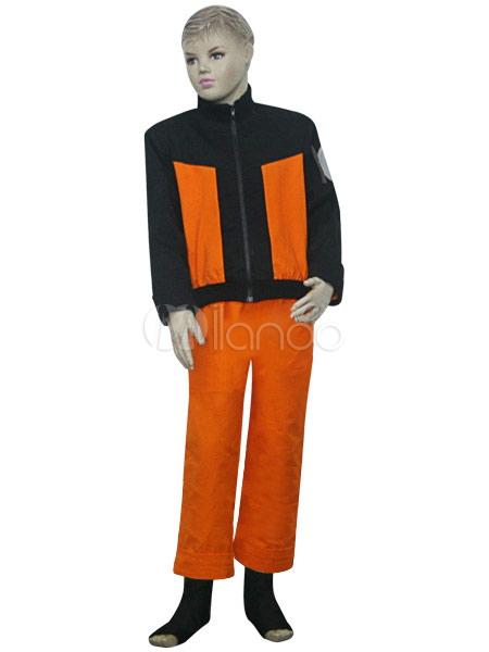 Buy Black And Orange Uniform Cloth Naruto Shippuden Uzumaki Naruto Kids Cosplay Costume Halloween for $55.09 in Milanoo store