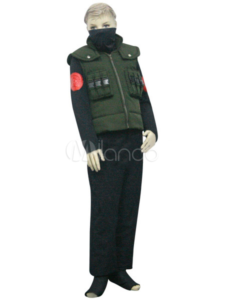 Buy Uniform Cloth Naruto Hatake Kakashi Kids Deluxe Cosplay Costume Halloween for $62.69 in Milanoo store