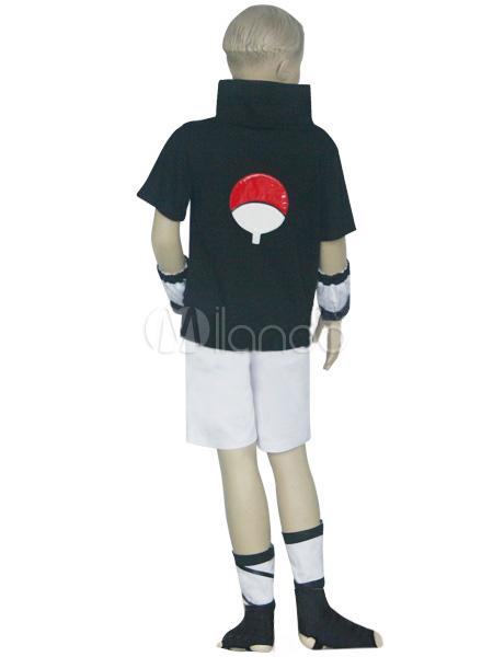 Uniform Cloth Spandex Naruto Sasuke Uchiha Kids Cosplay Costume Halloween