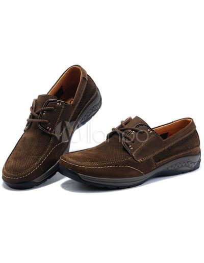 b34ae9442d4 ... Zapatos cómodos Dark Brown Cuero transpirable Escalada para el hombre-No.4  ...