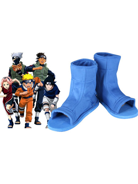 613d96a7b2e4f Naruto Cosplay Shoes Halloween Blue Ninja Shoes