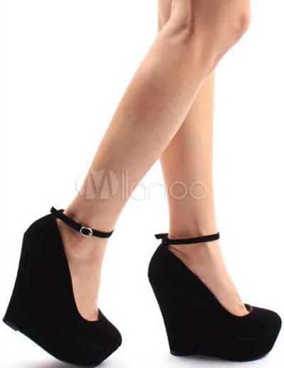 bdfc90d052b91 Talons compenses noirs chaussure bleu a talon compensé