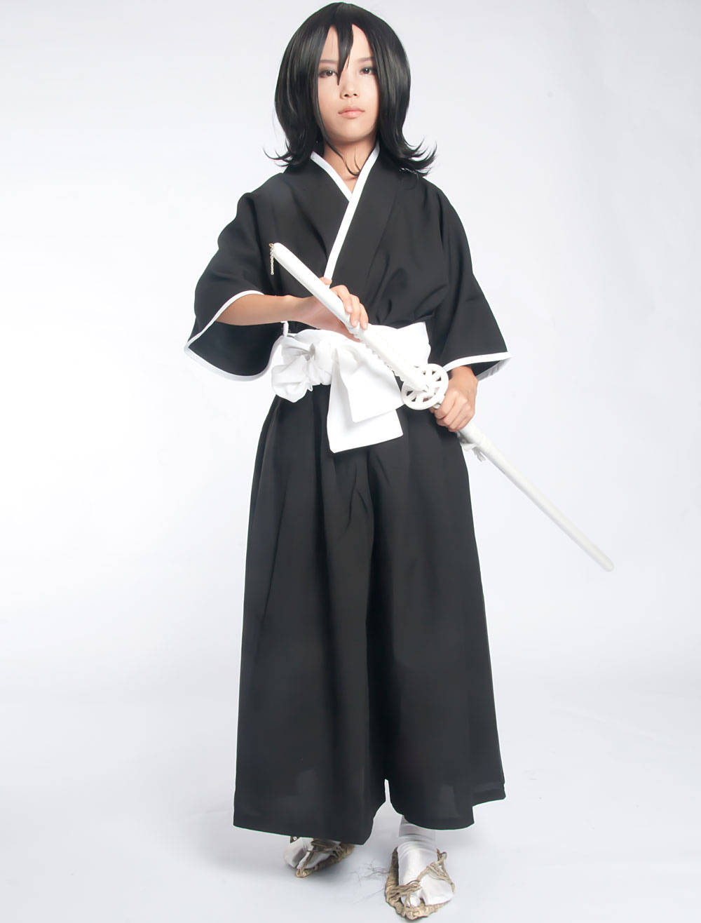 Bleach Kuchiki Rukia Soul Reaper Uniform Halloween Cosplay Costume   Halloween