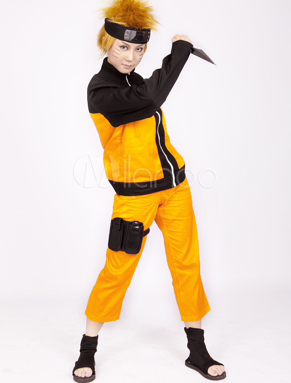 Buy Anime Naruto Shippuden Uzumaki Naruto Halloween Cosplay Costume for $34.99 in Milanoo store