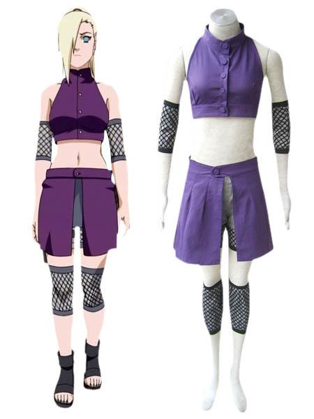 Naruto Shippuden Ino Yamanaka Cosplay Costume Halloween