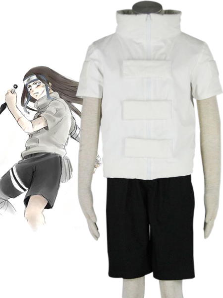 Buy Naruto Hyuuga Neji Cosplay Costume Halloween for $26.09 in Milanoo store