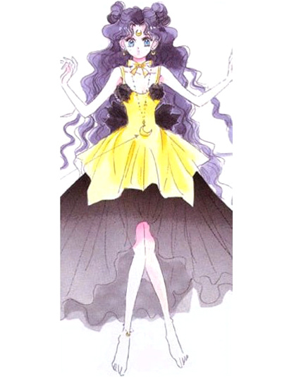 Sailor Moon Luna Human Cosplay Costume Halloween