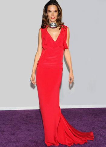 Slim Red Spinning V-neck Sweep Evening Dress