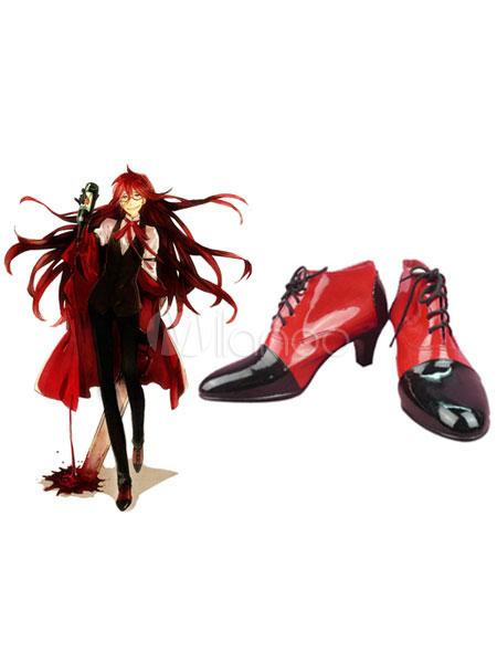 Black Butler KuroShitsuji Grell Halloween Cosplay Shoes Halloween