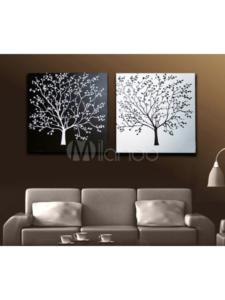 Attractive Simple 6060cm2 Canvas Handwork Flower Oil Painting No1