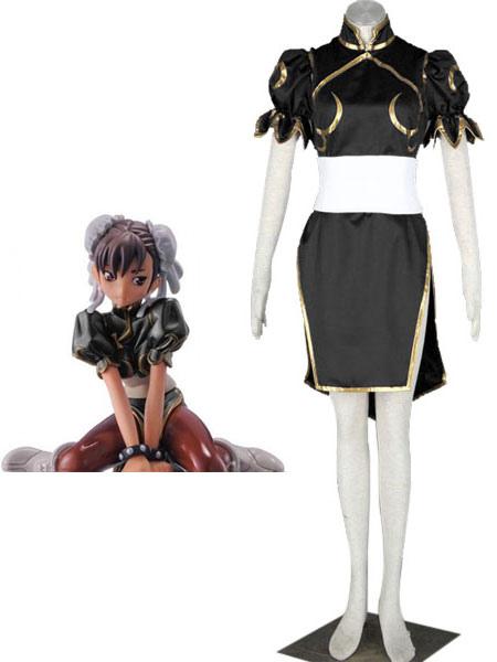 Buy Street Fighter Chun-Li Black Cosplay Costume Halloween for $69.99 in Milanoo store