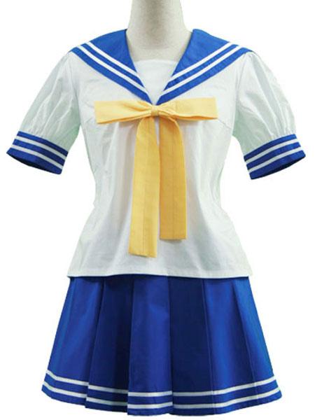 Buy Lucky Star Izumi Konata Cosplay Costume Seifuku School Uniform Halloween for $30.59 in Milanoo store