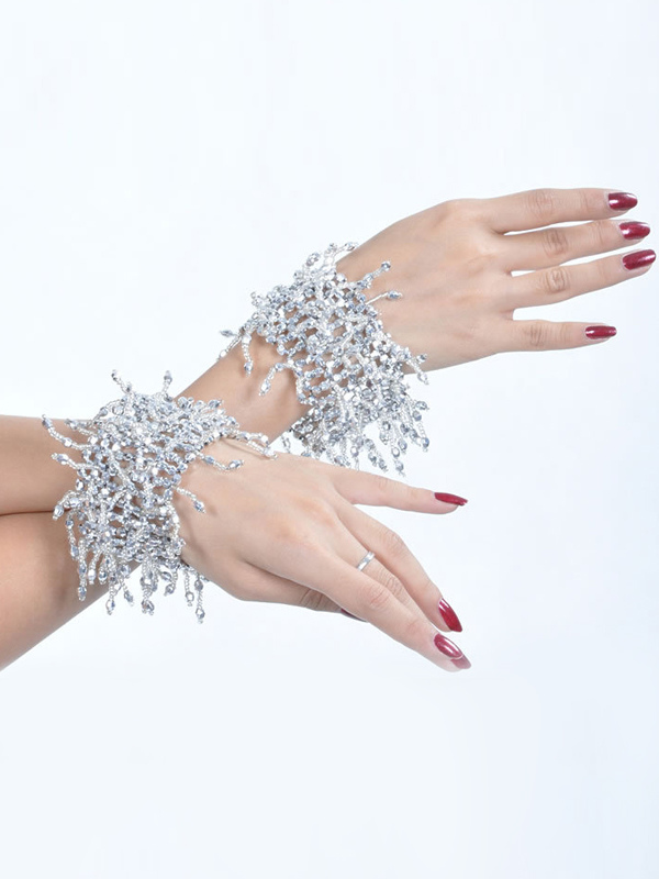 Bracelets Belly Dance Costume Silver Bollywood Dance Jewelery