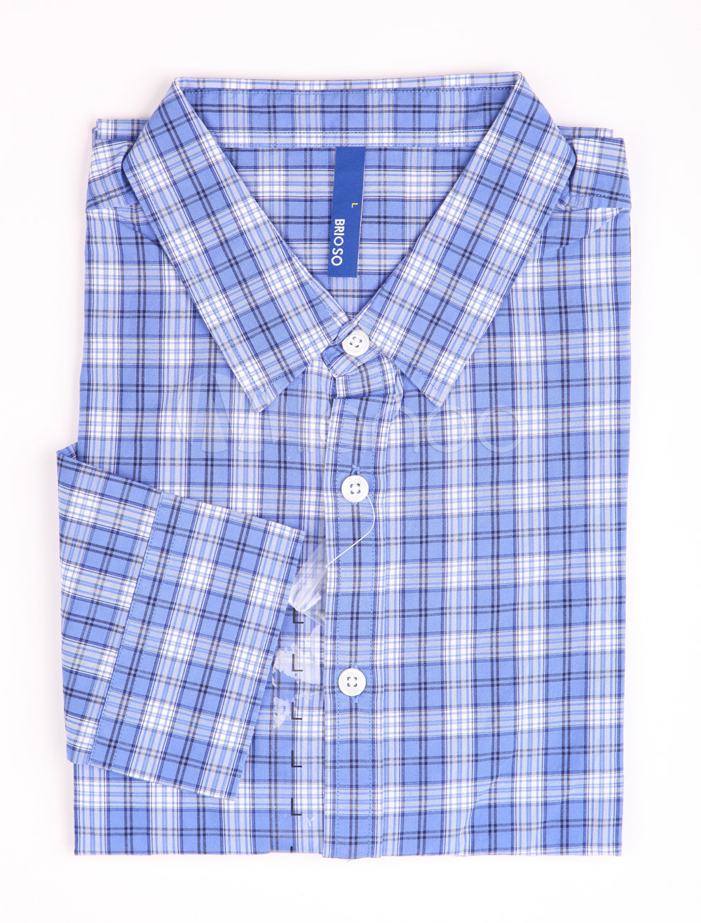 Buy Casual Blue Check 100% Cotton Mens Shirt for $13.49 in Milanoo store