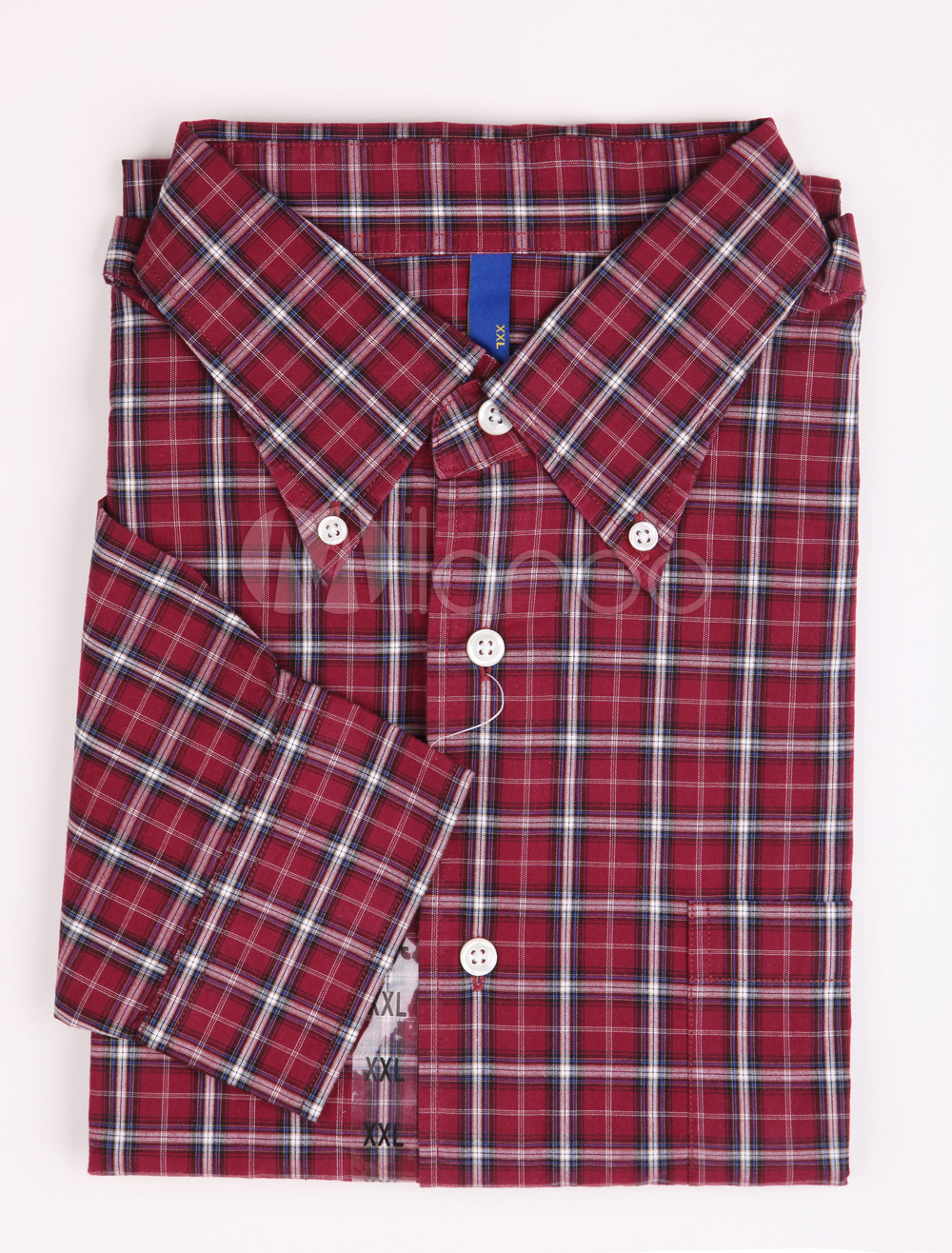 Buy Casual Purple Check 100% Cotton Mens Shirt for $14.24 in Milanoo store