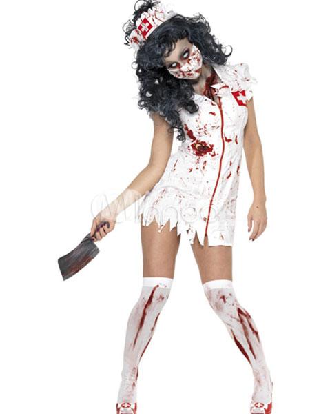 Halloween Zombie Nurse Costume Cosplay Halloween