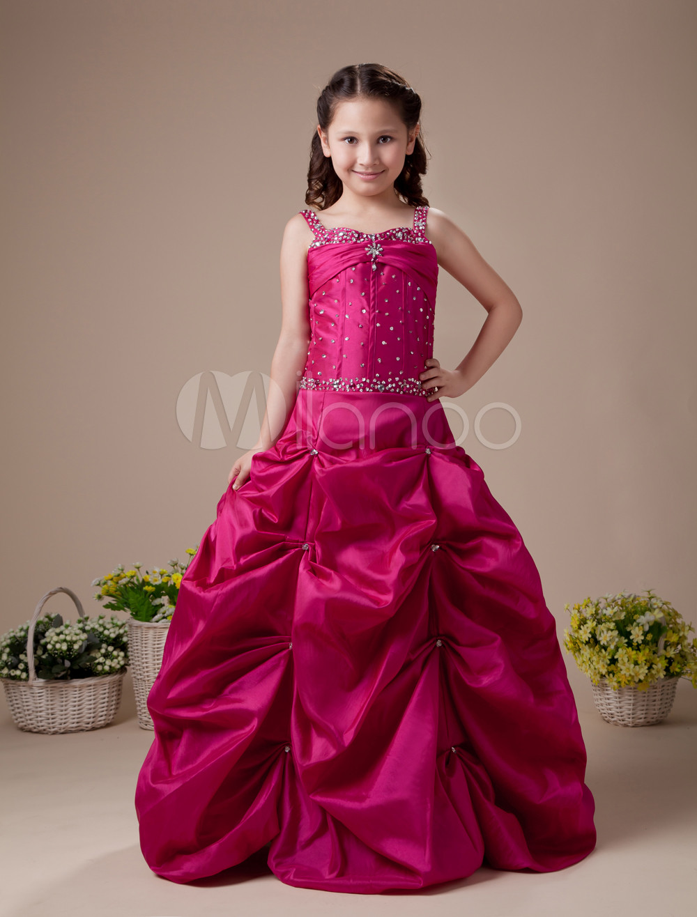 red flower girl dress. Black Bedroom Furniture Sets. Home Design Ideas