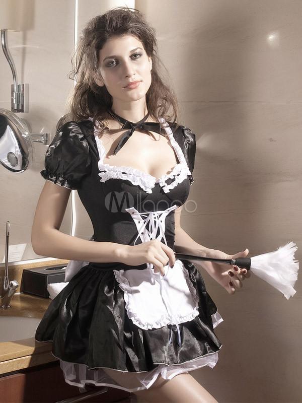 Black french maid costume for halloween halloween milanoo black french maid costume for halloween halloween no3 solutioingenieria Gallery