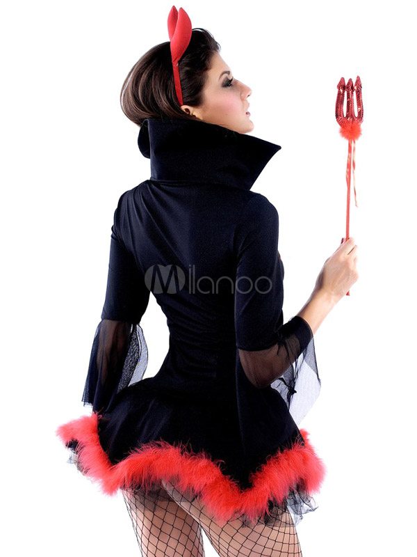 ... Sexy Black Acrylic Spandex Dress Womens Demon Halloween cosplay costume Halloween-No.3  sc 1 st  Milanoo.com & Sexy Black Acrylic Spandex Dress Womens Demon Halloween cosplay ...