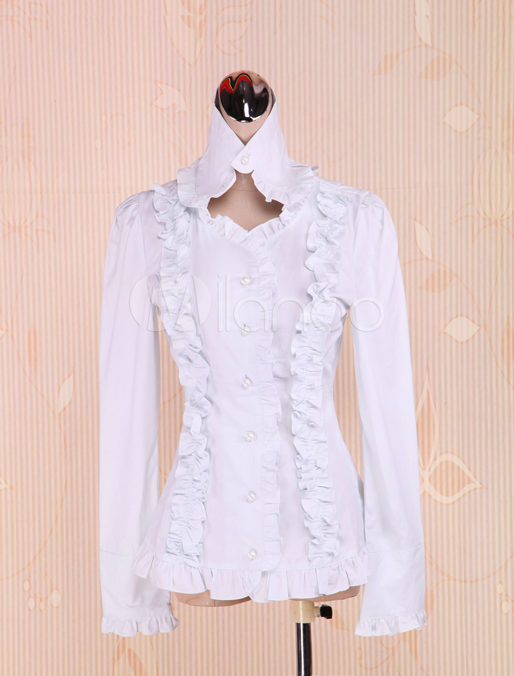 Cotton White Ruffles Lolita Blouse