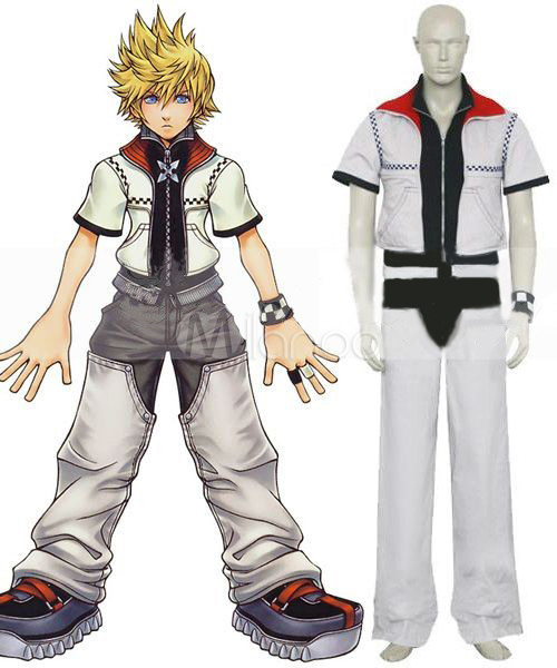 kingdom hearts roxas cosplay costume halloween milanoo com