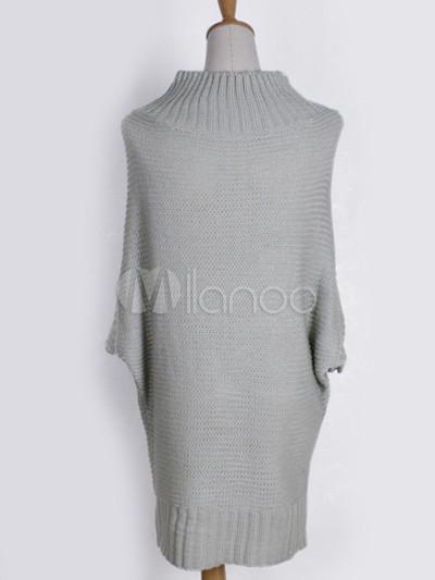 cf654b821f Popular Woolen Blend Batwing Sleeve Women s Sweater Dress - Milanoo.com