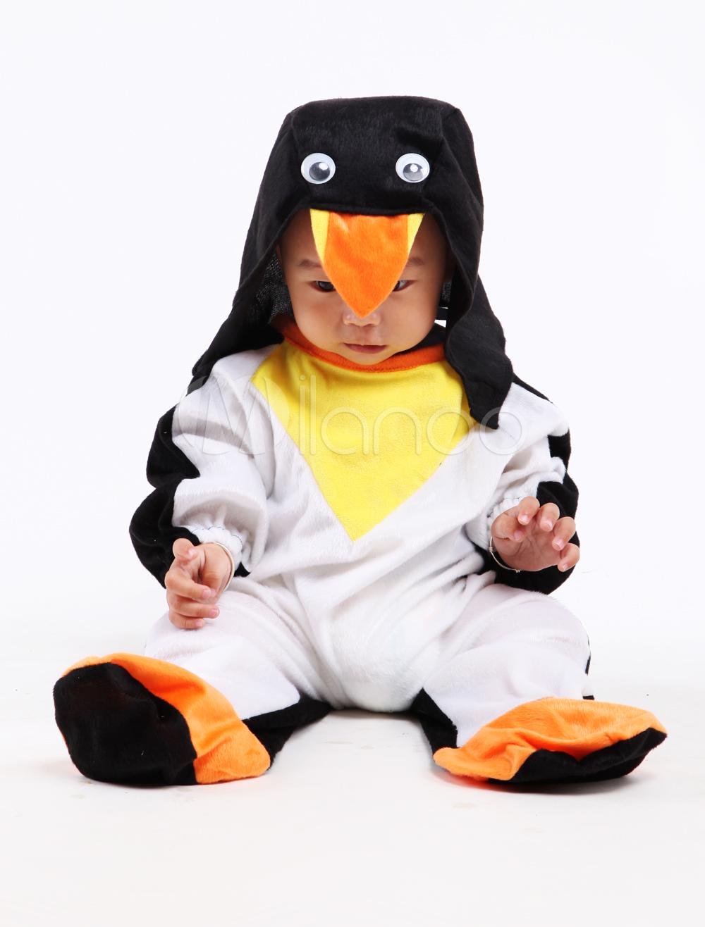 Traje de bicolor para disfraz de pingüino de Halloween para bebé ...