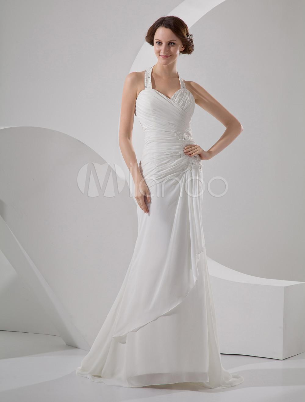 simple halter wedding dress the image kid has it. Black Bedroom Furniture Sets. Home Design Ideas