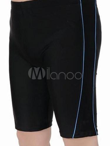 5dd2b68c49 Simple Knee Length Lycra Spandex Men's Swim Trunks - Milanoo.com