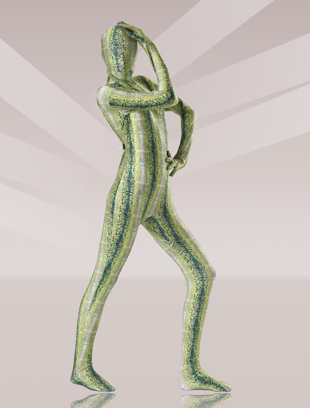 St Patricks Day Costume Olive Green Zentai Suit Halloween
