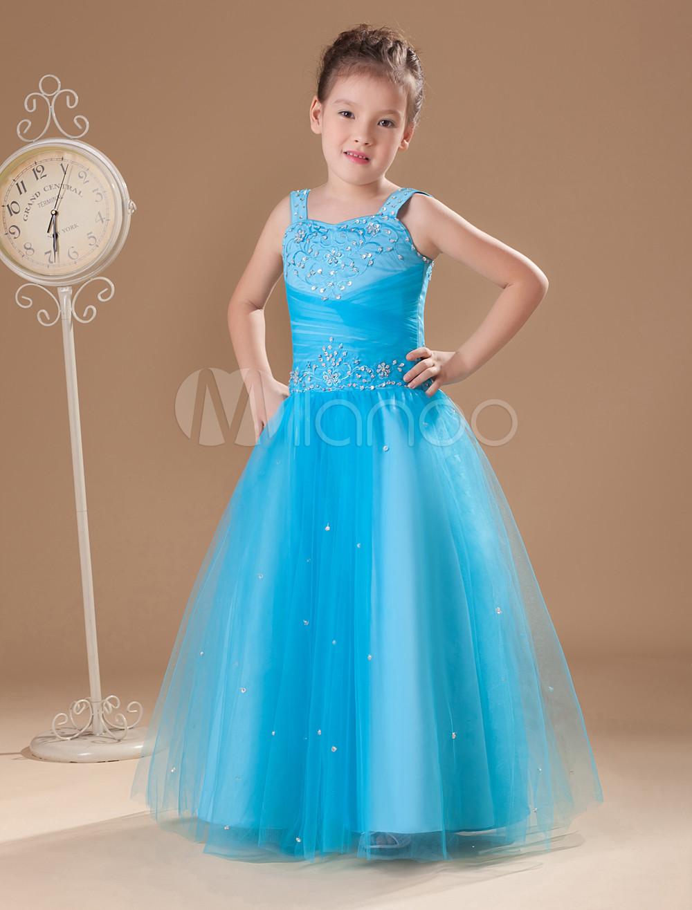 Imagenes de vestidos azul turquesa para ninas