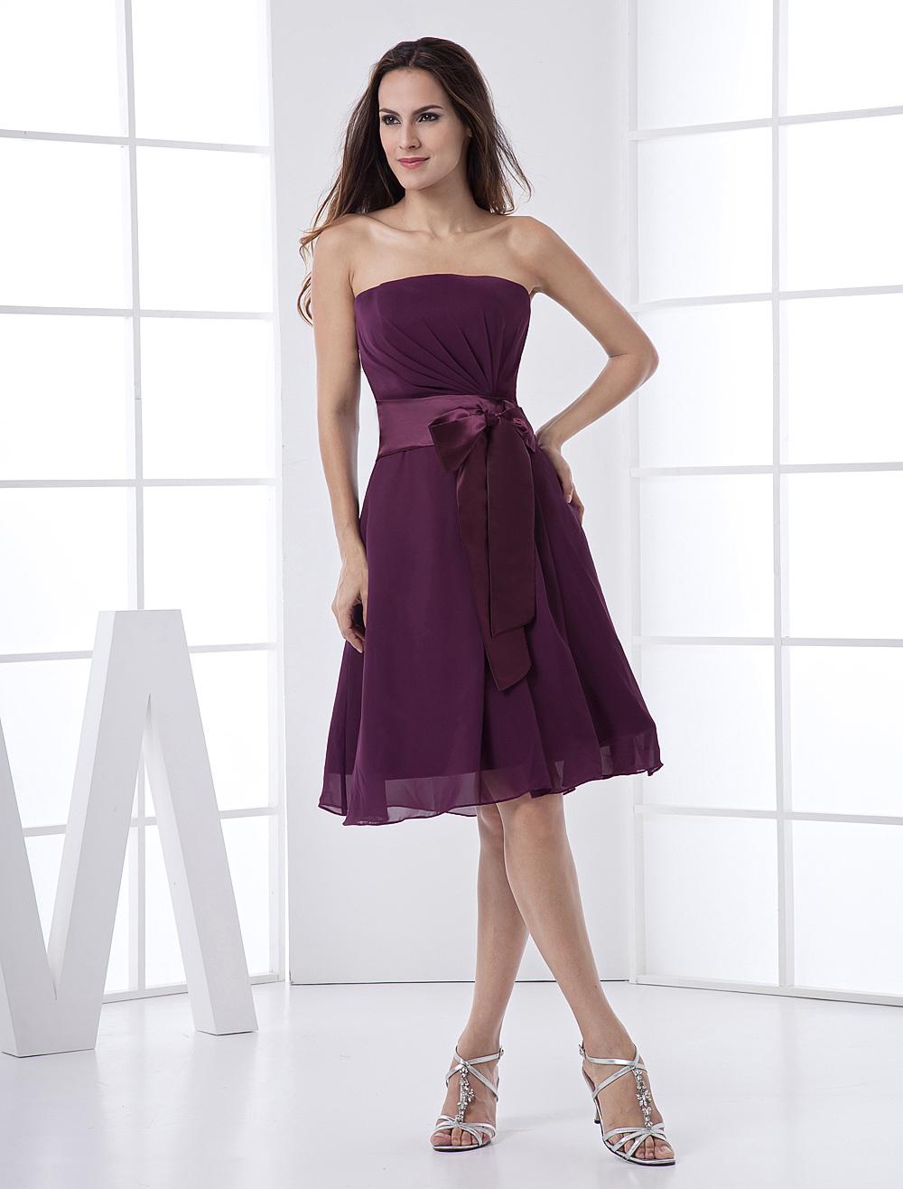 Vestidos Damas De Honor Color Uva Modelos De Moda De