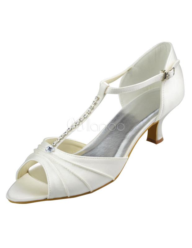 Ivory Satin High Heel Wedding Shoes - Milanoo.com 3d963658b8