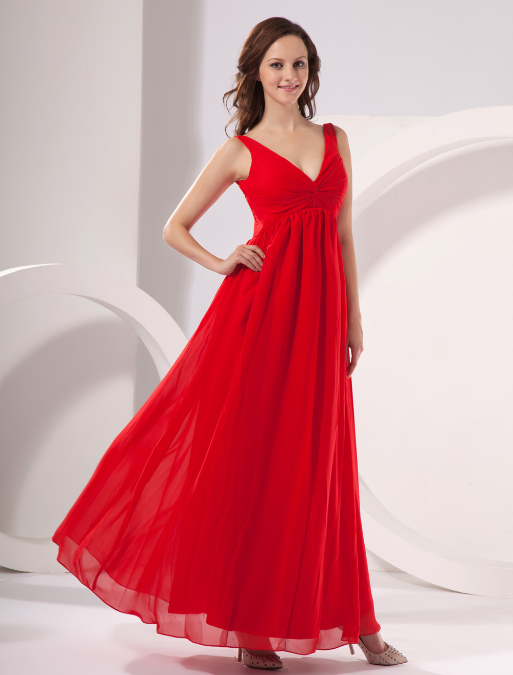 Chiffon v neck floor length maternity evening dress milanoo ombrellifo Images
