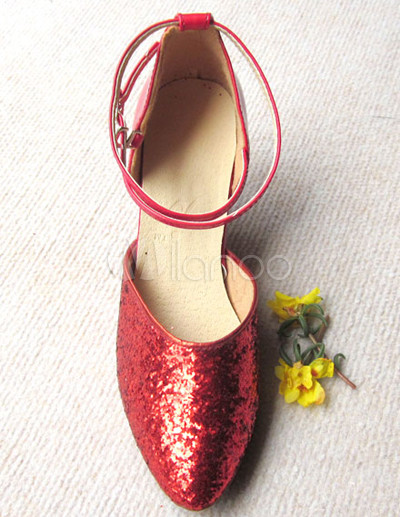 Attractive Red PU 2 3/4'' High Heel Womens Latin Dance Shoes