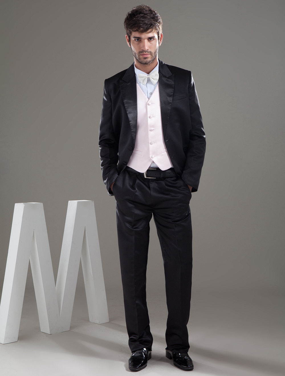 Buy Fashion Black Single Breasted Button Groom Wedding Tuxedo for $149.99 in Milanoo store