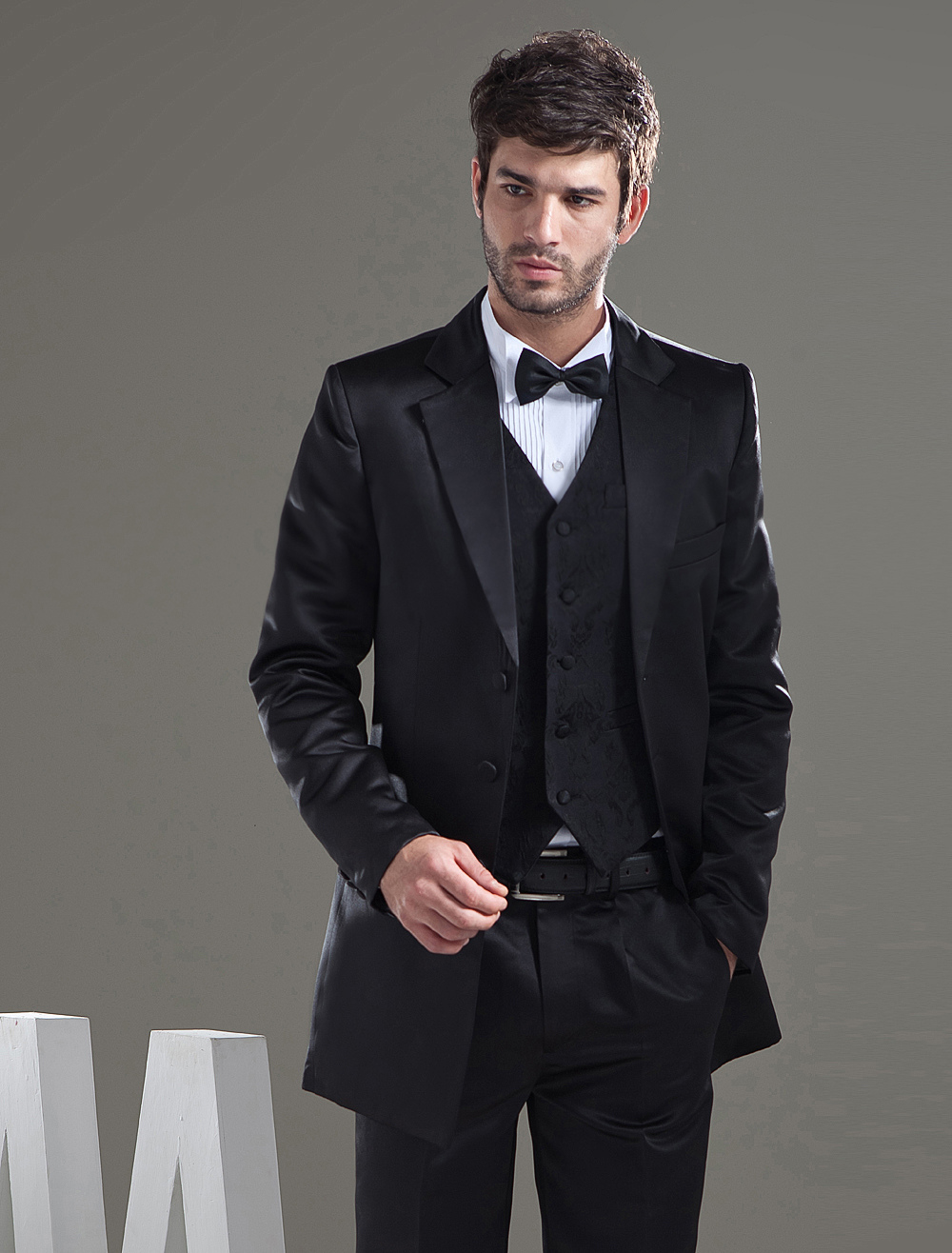 Full Length Jacket Worsted Groom Wedding Wear - Milanoo.com