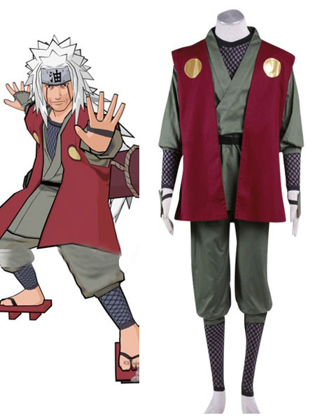 Naruto Jiraiya  Cosplay Costume Halloween