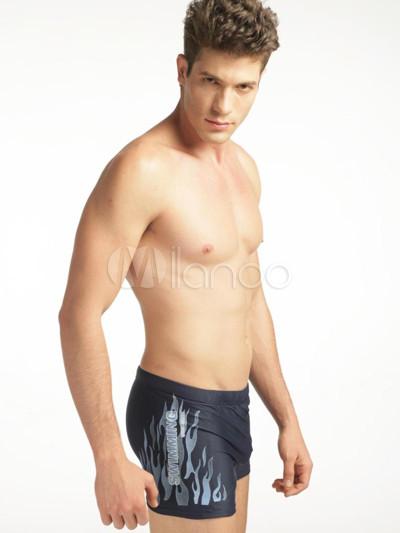 44292b5b52 Printed Lycra Spandex Men's Swim Shorts - Milanoo.com