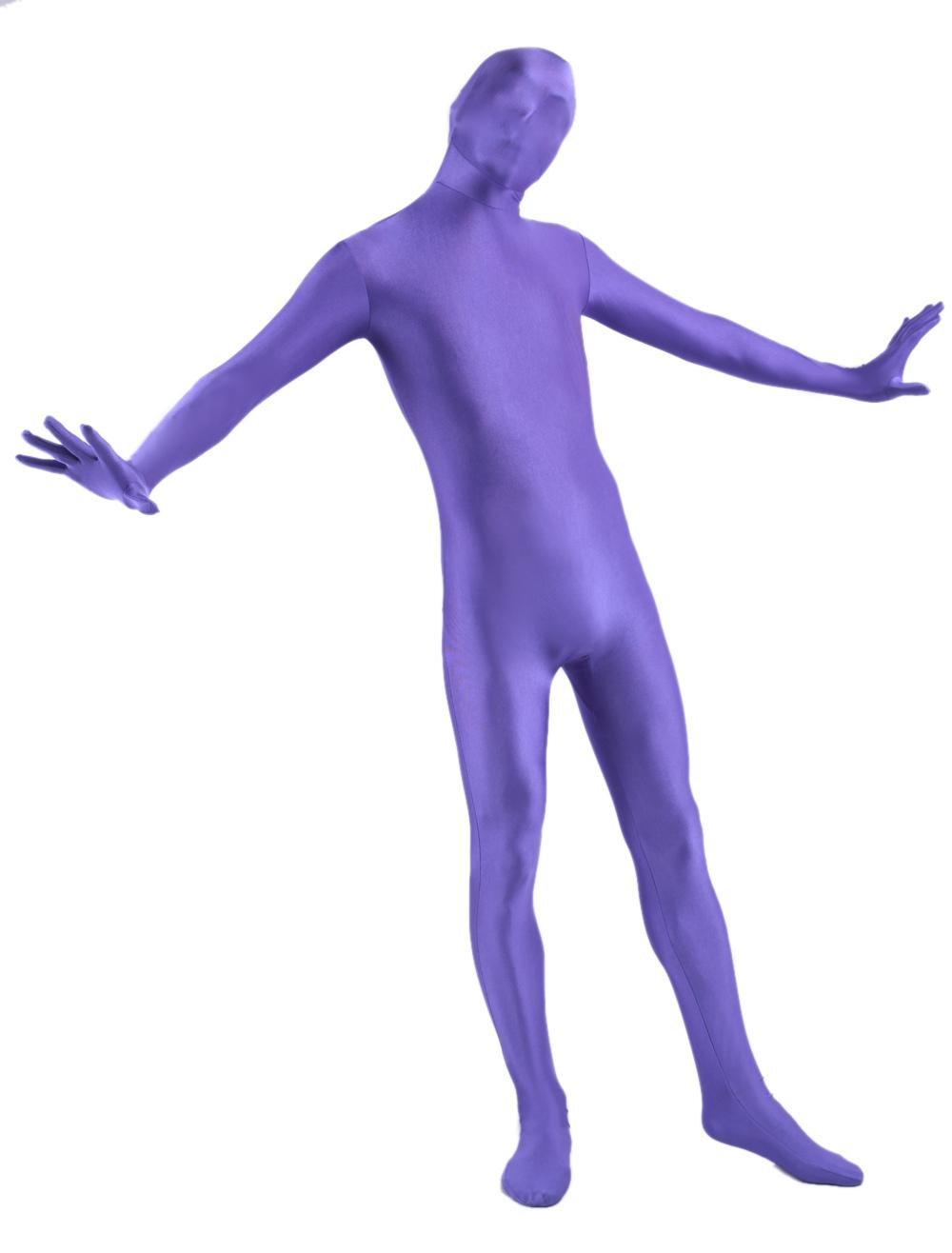 Purple Lycra Spandex Zentai Suit Full Bodysuit for Halloween Morphsuits Halloween