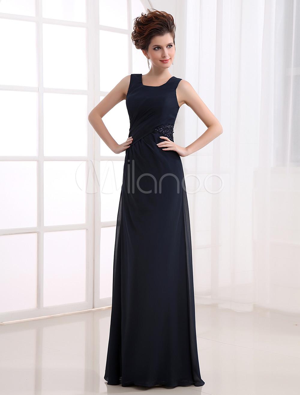 Elegant Deep Navy Blue Spinning Prom Dress