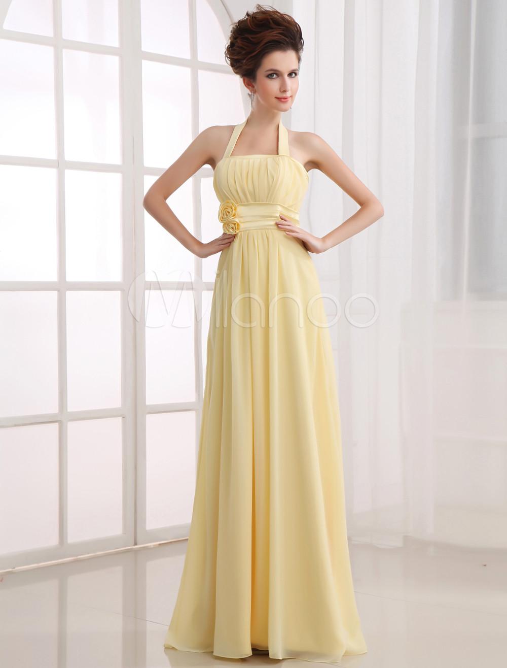 Chiffon Floor Length Bridesmaid Dress