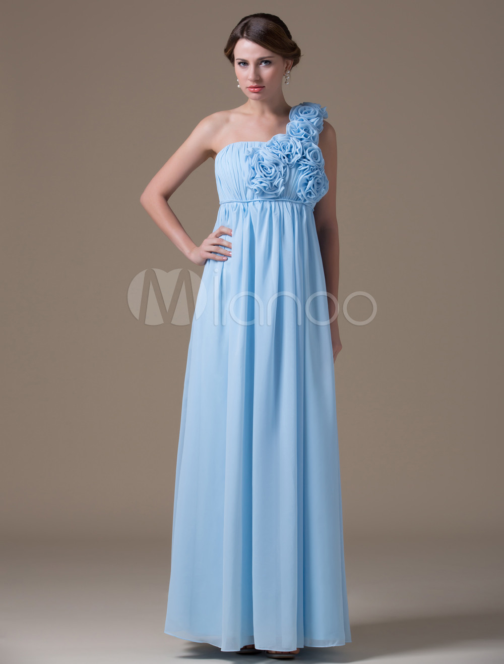 A line sage chiffon maternity bridesmaid dress with one shoulder 30off ombrellifo Images