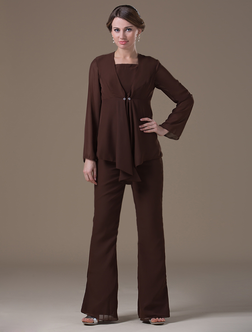 Chiffon Mother Of The Bride Pant Suits