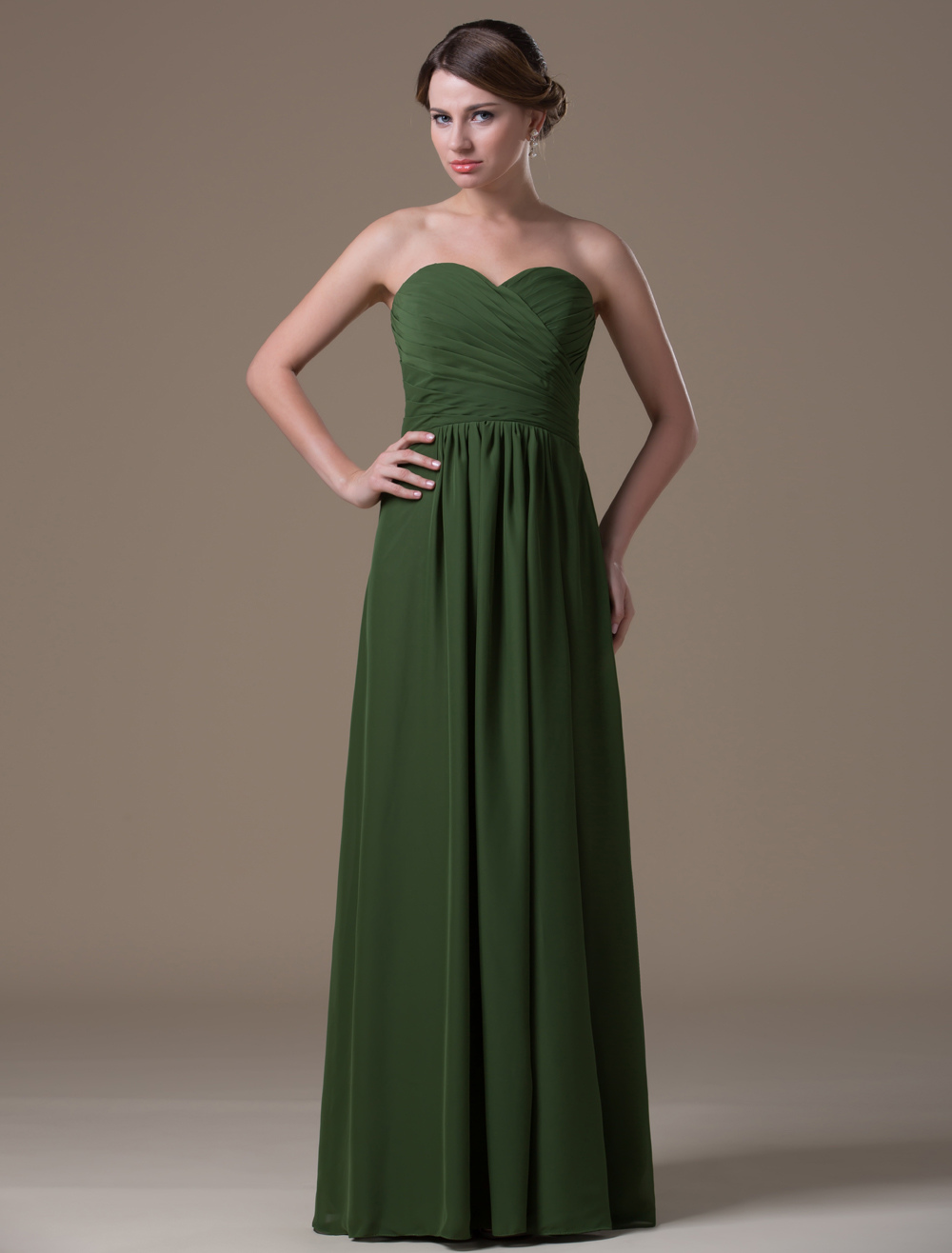 A line green chiffon maternity bridesmaid dress with empire waist a line green chiffon maternity bridesmaid dress with empire waist milanoo ombrellifo Gallery