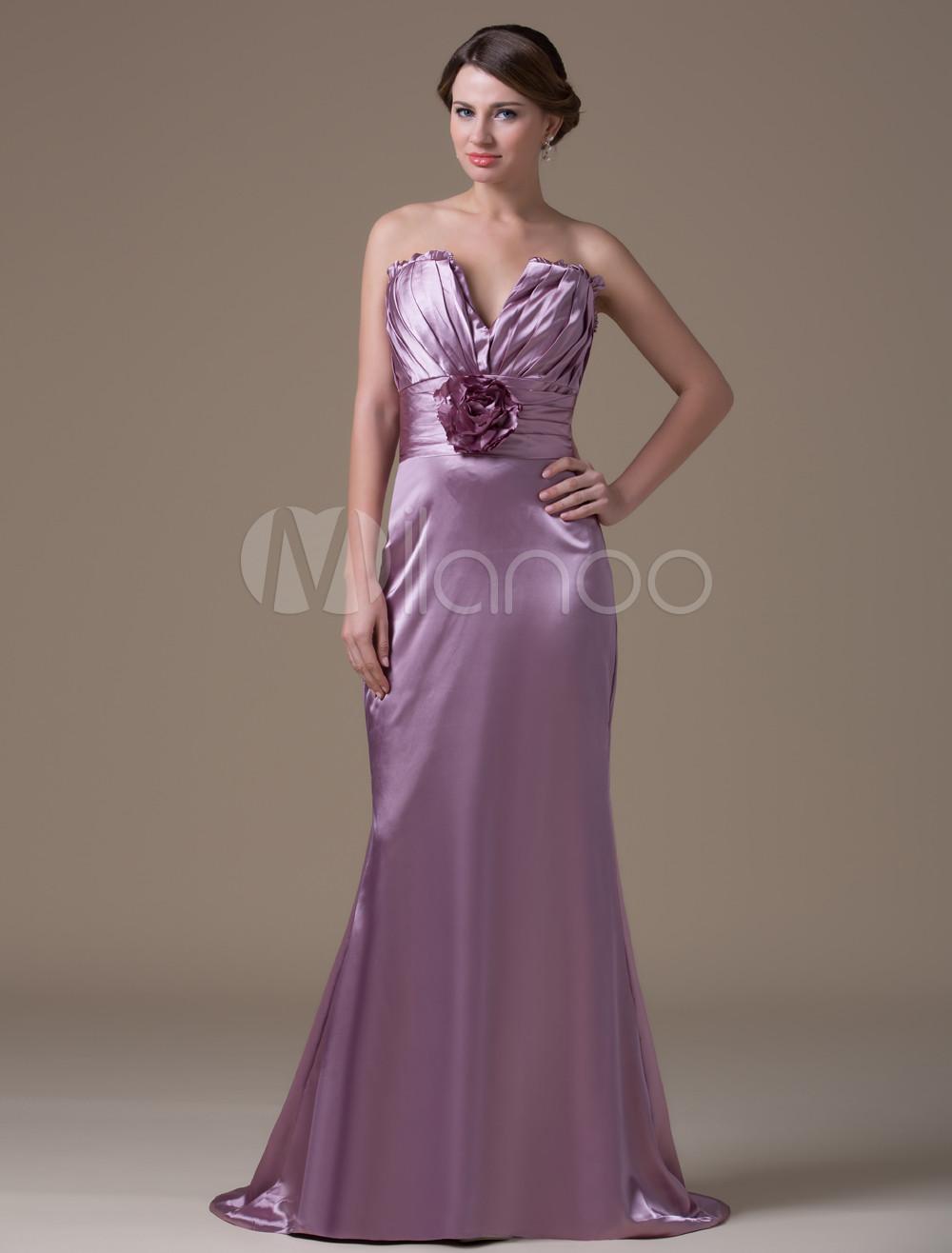 Encantador Profundas Vestidos De Las Damas De Color Púrpura Viñeta ...