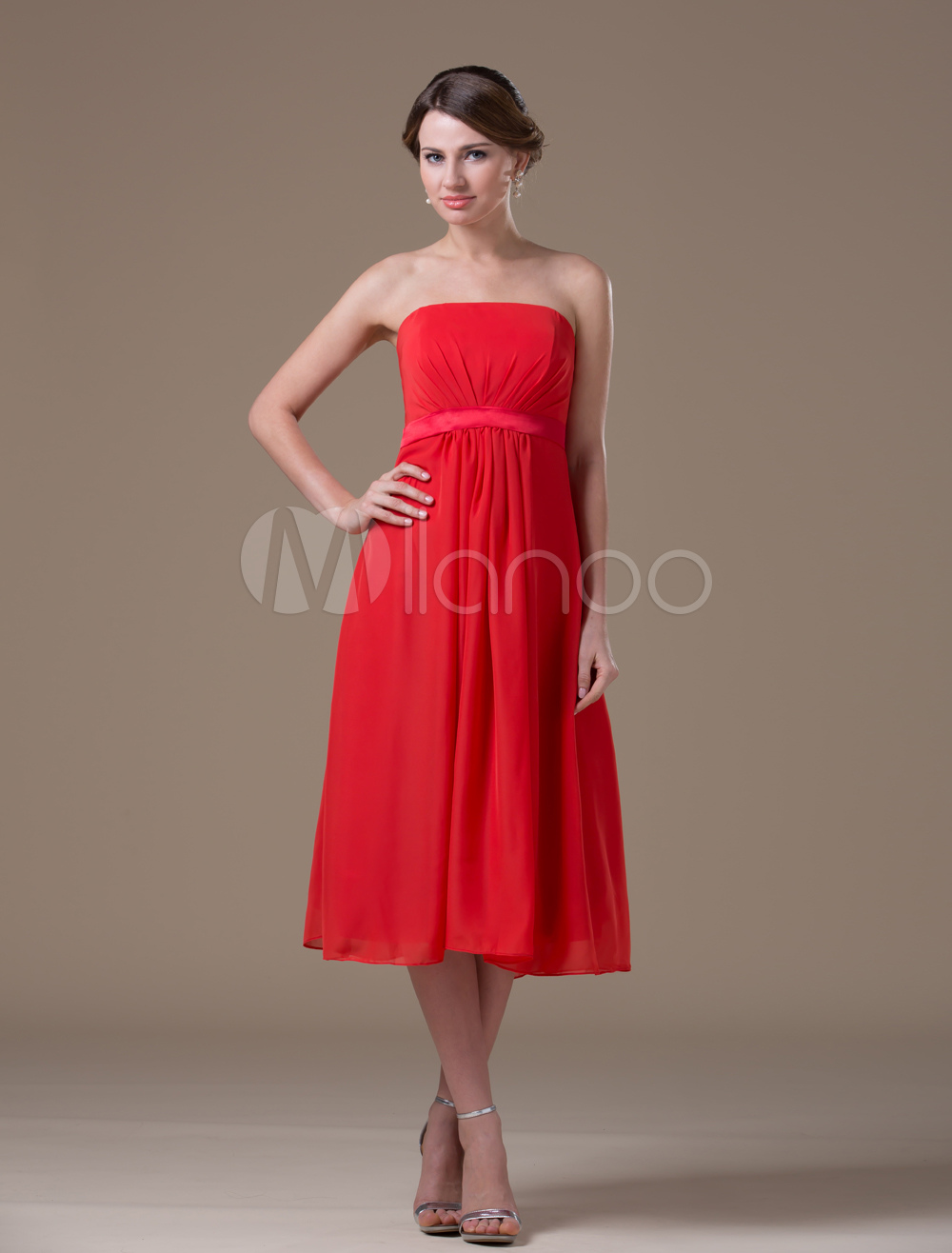 Strapless red maternity bridesmaid dress milanoo ombrellifo Image collections