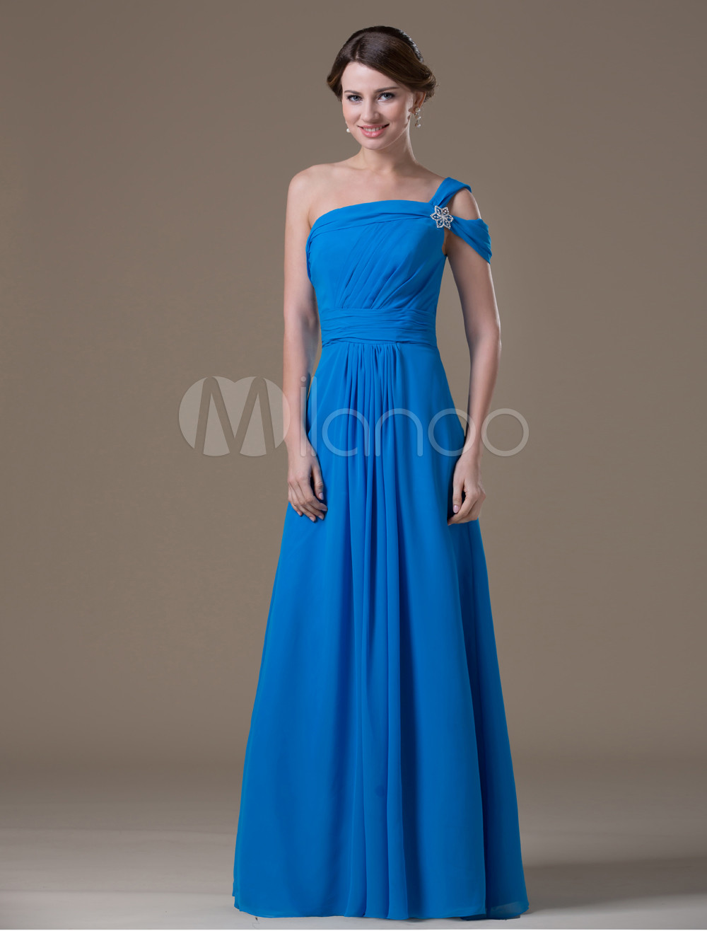 f4021b52bf677 ... Royal Blue Chiffon One Shoulder Maternity Bridesmaid Dress-No.8. 12.  30%OFF. Color: AddThis Sharing Buttons