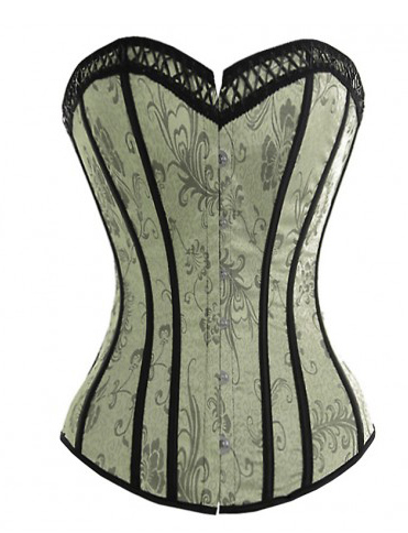 Jacquard Bustier And Panty Set